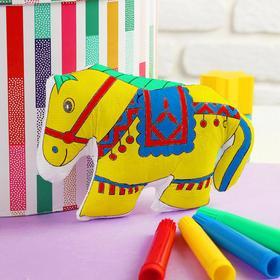 Игрушка-раскраска «Лошадка» (без маркеров) в пакете Ош