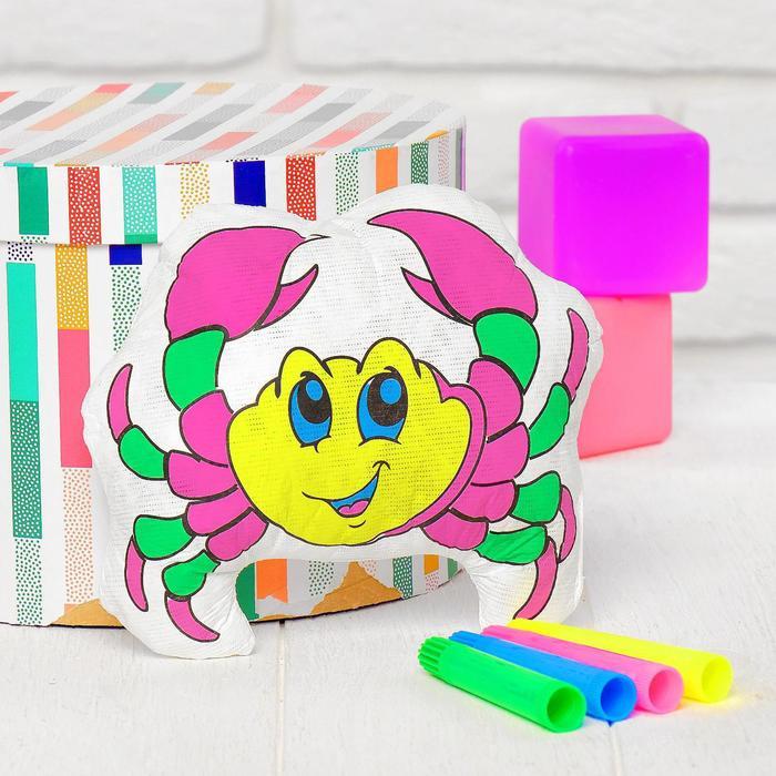 Игрушка-раскраска Крабик без маркеров в пакете