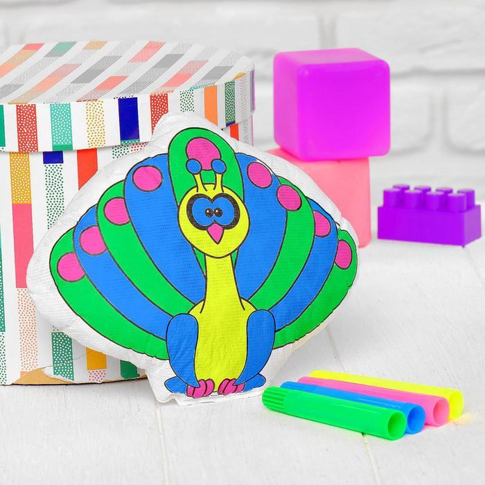 Игрушка-раскраска Павлин без маркеров в пакете
