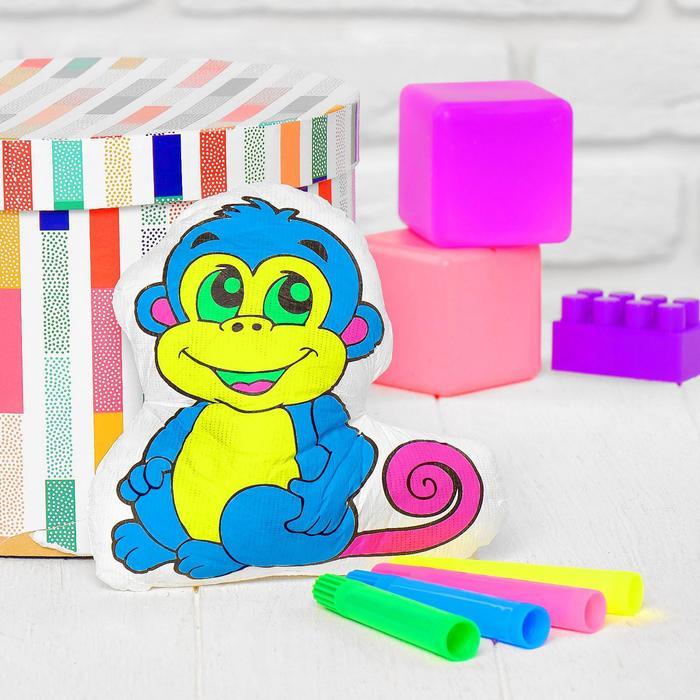 Игрушка-раскраска Обезьянкабез маркеров в пакете