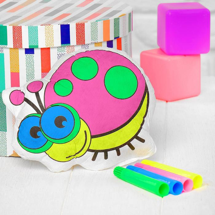 Игрушка-раскраска Божья коровкабез маркеров в пакете