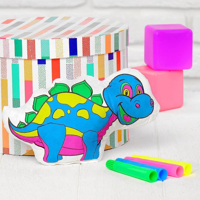 Игрушка-раскраска Динозавр без маркеров в пакете