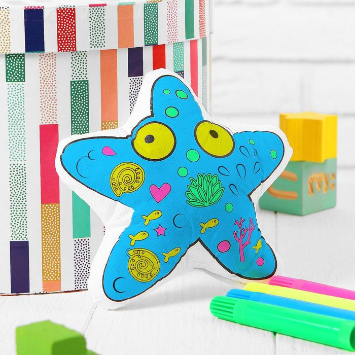 Игрушка-раскраска Морская звезда без маркеров в пакете
