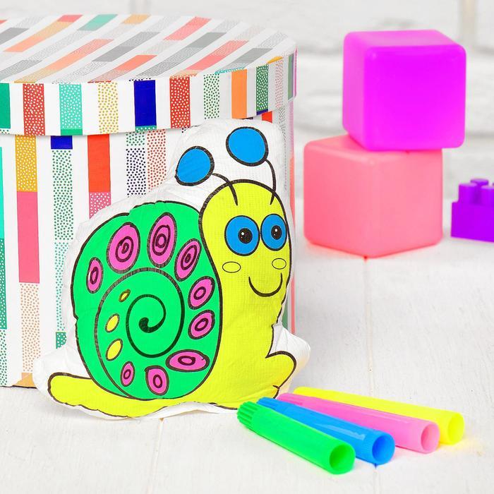 Игрушка-раскраска Улитка без маркеров в пакете