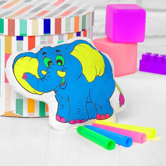 Игрушка-раскраска Слоник без маркеров в пакете