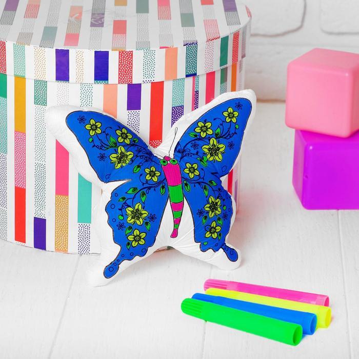 Игрушка-раскраска Бабочка без маркеров в пакете