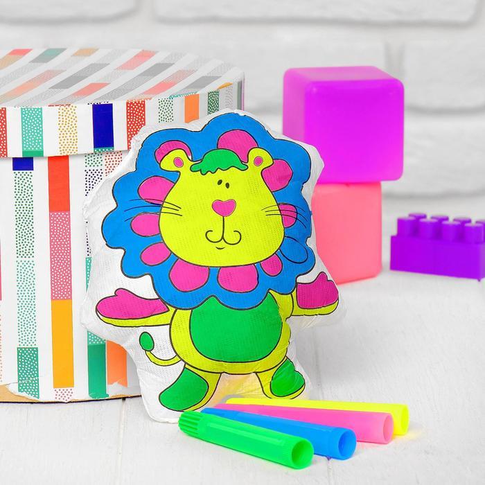 Игрушка-раскраска Львенок без маркеров в пакете