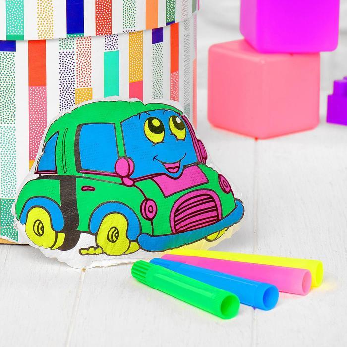 Игрушка-раскраска Машинка без маркеров в пакете