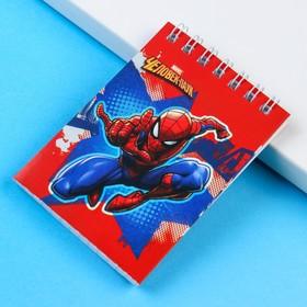 Блокнот А7 32 л на гребне Человек-паук Супергерой