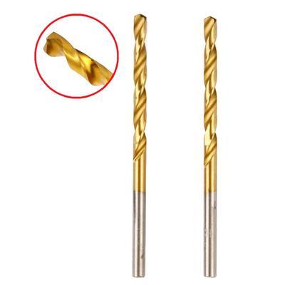 Сверло по металлу Hammer Flex 202-109, DIN338, HSS-G, TIN, d=4 мм, 75/43 мм, 2 шт. - Фото 1