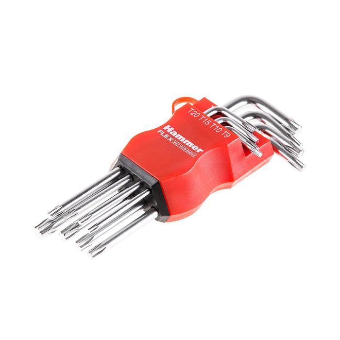Набор торцевых ключей Hammer Flex 601-031, TORX, 8 шт., T9-T40, CRV