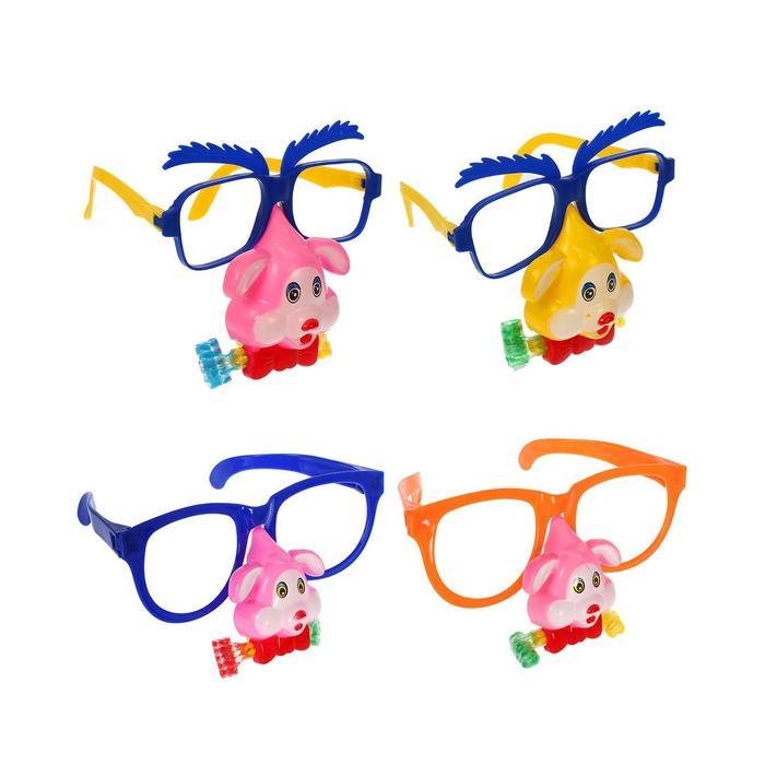 Карнавальные очки Собачка, с носом и язычком, виды МИКС