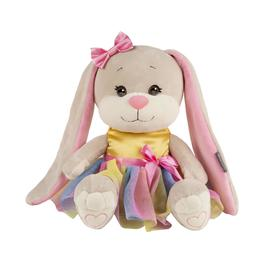Мягкая игрушка «Зайка Lin» в радужном платье, 25 см