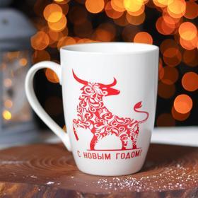 Кружка Доляна «Новый год. Ажурный бык», 350 мл