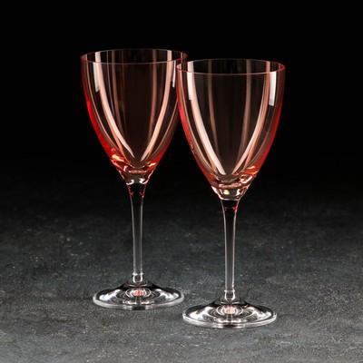 Набор бокалов для вина «Кейт», 250 мл, 2 шт, цвет красный - Фото 1