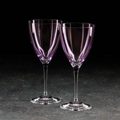 Набор бокалов для вина «Кейт», 250 мл, 2 шт, цвет фиолетовый - Фото 1