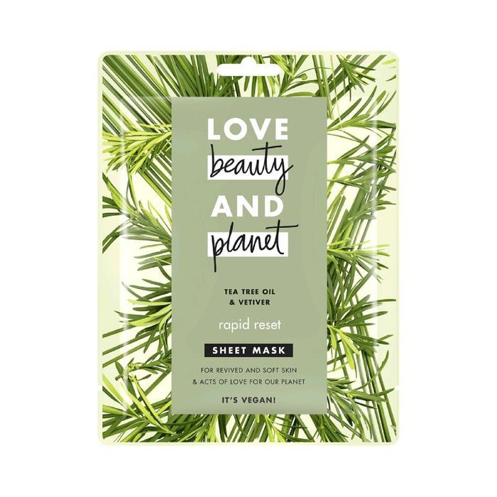 Тканевая маска для лица Love Beauty and Planet «Быстрая перезагрузка»