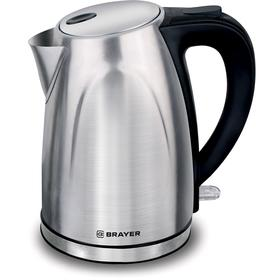 Чайник электрический BRAYER BR1041, металл, 1.7 л, 2200 Вт, серебристый