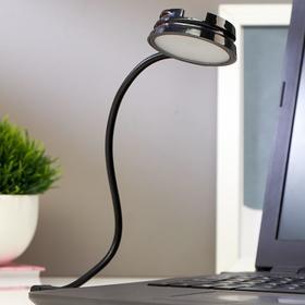 Светильник 16040/1 LED 0,5Вт USB черный 6х6х2 см Ош