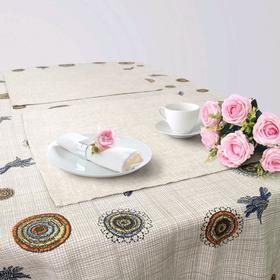 Кухонный набор «Бурж», скатерть 145 × 200 см, салфетки 40 × 40 см-6 шт