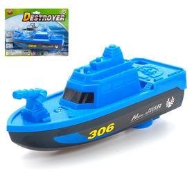 Катер «Патрульная лодка», работает от батареек, МИКС Ош