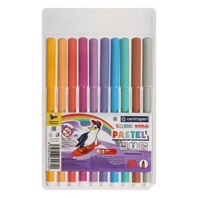 Фломастеры 10 цветов, Centropen Colour World Pastel 7550/10 TP, пастельные, в блистере