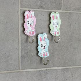 Набор крючков на липучке «Зайчик, оленёнок», 3 шт, рисунок МИКС Ош