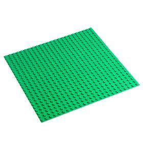 Пластина-основание для конструктора 38,5х38,5 см (диаметр 0,8 см), цвет зелёный Ош