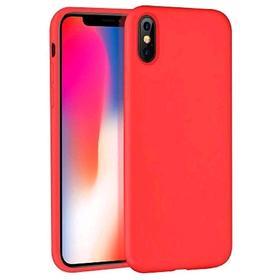 Чехол BoraSCO Mate, для iPhone Xs Max, силиконовый, красный