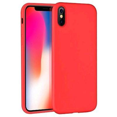 Чехол BoraSCO Mate, для iPhone Xs Max, силиконовый, красный - Фото 1