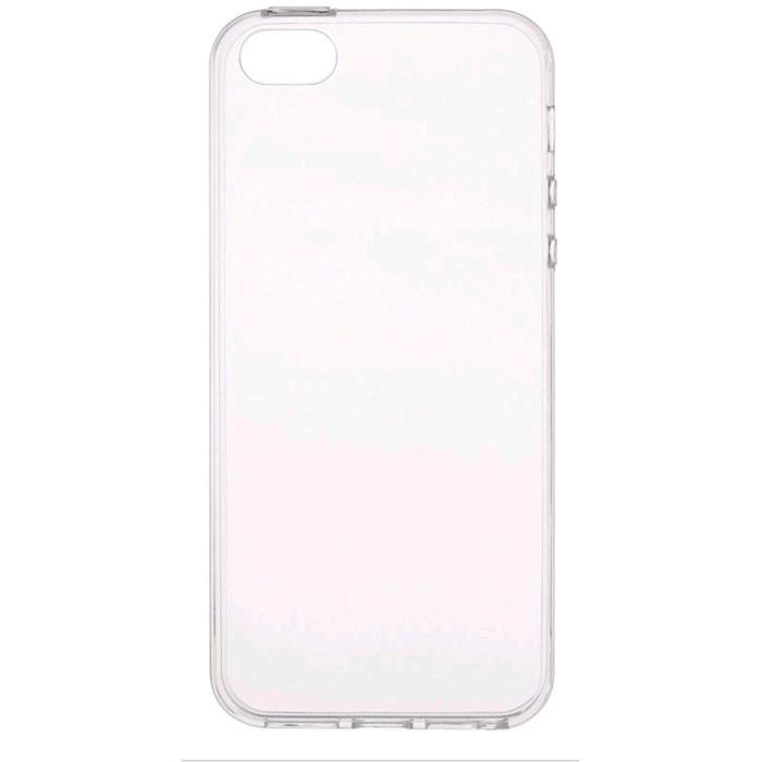 Чехол BoraSCO, для iPhone 5/5S/SE, силиконовый, прозрачный