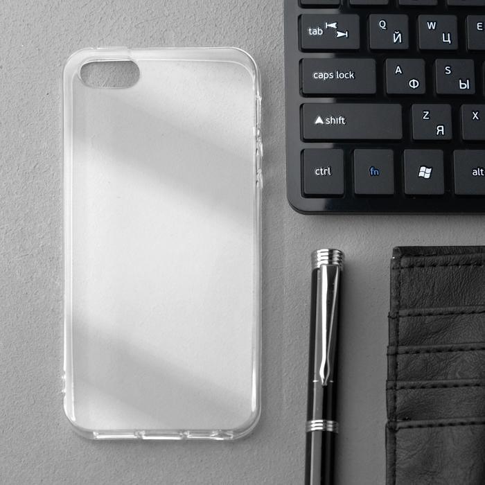 Чехол Innovation, для iPhone 5/5S/SE (2016), силиконовый, прозрачный
