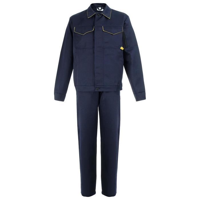 """Костюм """"Дока-2"""" КОС 622 куртка+п/к (т.синий/желтая отделка 48-50/182-188)"""
