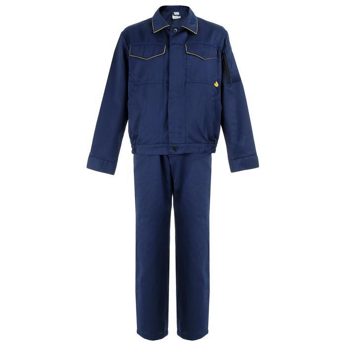 """Костюм """"Дока-2"""" КОС 622 куртка/пк (т.синий/желтая отделка 60-62/170-176)"""