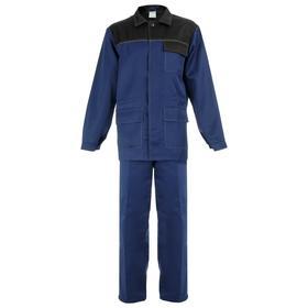 Костюм рабочий № 520 'Передовик' т.синий /черный (куртка+брюки, р.48-50, рост 182-188) Ош