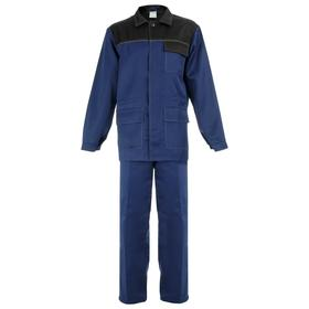Костюм рабочий № 520 'Передовик' т.синий /черный (куртка+брюки, р.60-62, рост 170-176) Ош