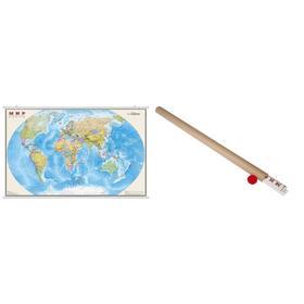 Карта Мира политическая 197 х 127 см, 1:15 М