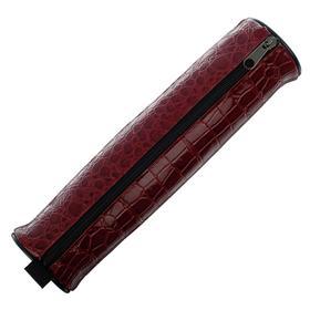Пенал-тубус для кистей, мягкий, 255 х 65 мм, экокожа, «Канцбург», бордовый Ош