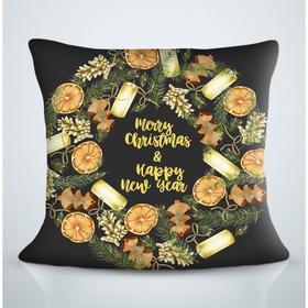 Подушка декоративная Merry Christmas & Happy New Year