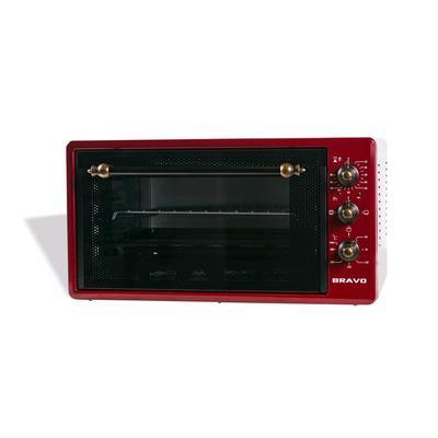 Мини-печь Bravo FO-45RR, 1300 Вт, 45 л, противень 40х30см, красная - Фото 1