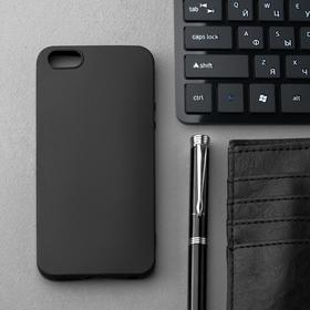 Чехол Innovation, для iPhone 5/5S/SE (2016), силиконовый, матовый, черный