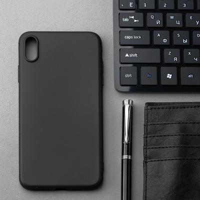 Чехол Innovation, для iPhone XS MAX, силиконовый, матовый, черный