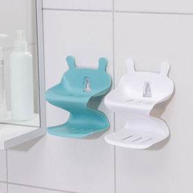 Держатель для ванных принадлежностей на липучке «Волна», цвет МИКС