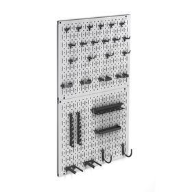 Перфопанель с 28 элементами 1000х450х106, цвет серый Ош