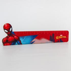 """Линейка деревянная 15 см """"Супергерой"""", Человек-паук"""
