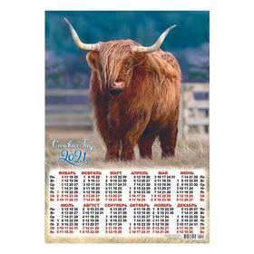 Календарь листовой А3 'Символ года - 2021 - 102' Ош