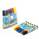 Фломастеры, 6 цветов, «Школа талантов», для творчества, в сумочке, вентилируемый колпачок, МИНИ