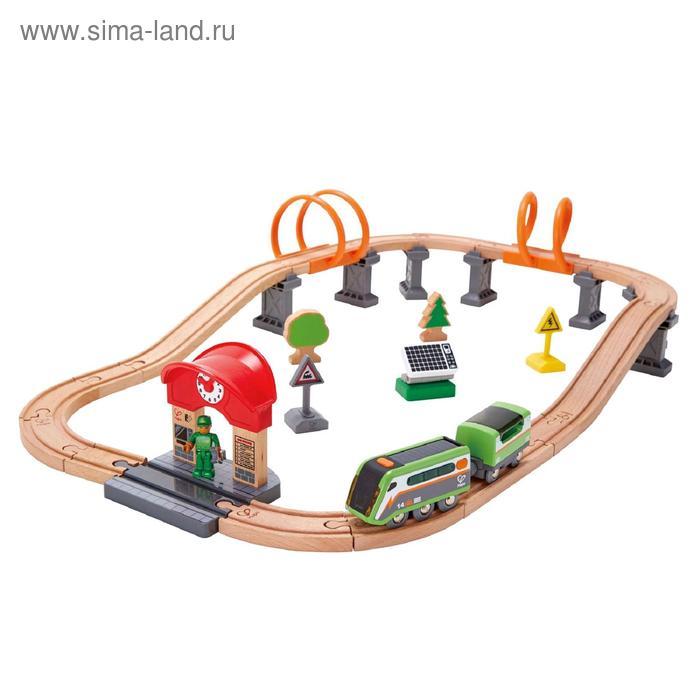 Железная дорога с поездом, на солнечных батарейках