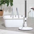 Набор для уборки Raccoon: швабра с плоской насадкой из микрофибры, ведро с отжимом 13,5 л - Фото 4