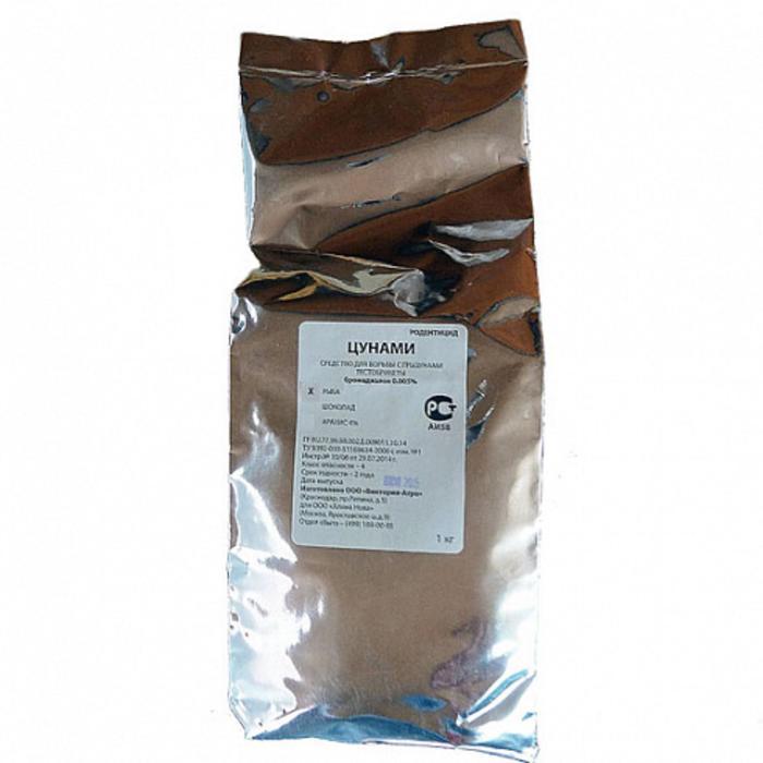 Приманка протравленная Цунами мягкий брикет арахис 1кг